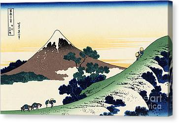 Inume Pass In The Kai Province Canvas Print by Hokusai