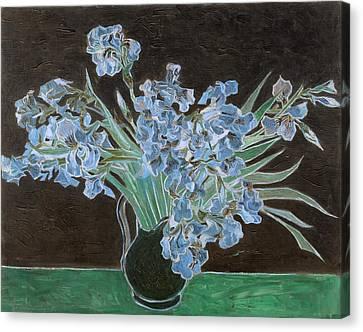 Inv Blend 11 Van Gogh Canvas Print by David Bridburg