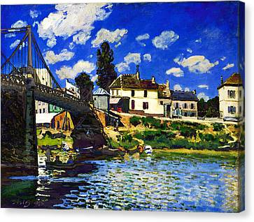 Inv Blend 14 Sisley Canvas Print by David Bridburg