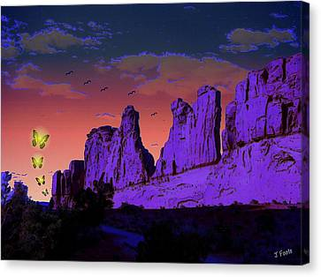 Invaders Arrive Canvas Print