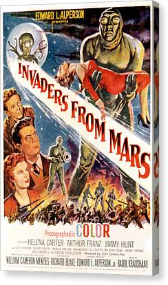 Invaders From Mars, Jimmy Hunt, Arthur Canvas Print