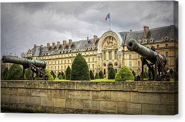 Invalides And Cannon Paris Canvas Print by Joan Carroll