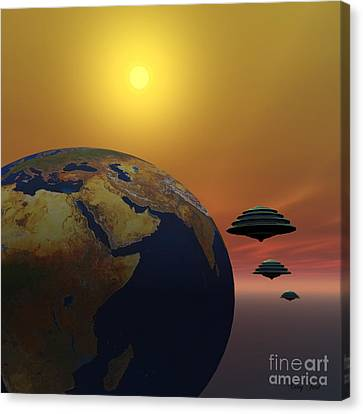 Invasion Canvas Print by Corey Ford