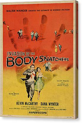 Movie Poster Canvas Print - Invasion Of The Bodysnatchers Vintage Movie Poster by Design Turnpike