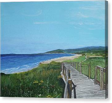 Inverness Beach Canvas Print by Betty-Anne McDonald