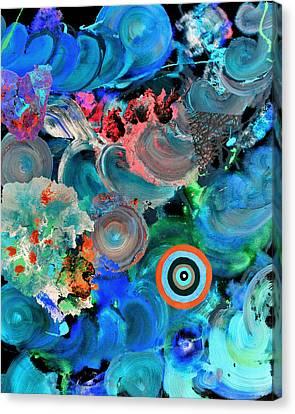 Inverted Painting Pop Fluid 6 Canvas Print by Sumit Mehndiratta