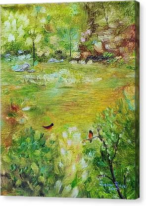 Canvas Print featuring the painting Invincible Spring by Judith Rhue