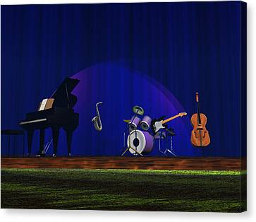 Canvas Print featuring the photograph Invisible Jazz by Mark Blauhoefer