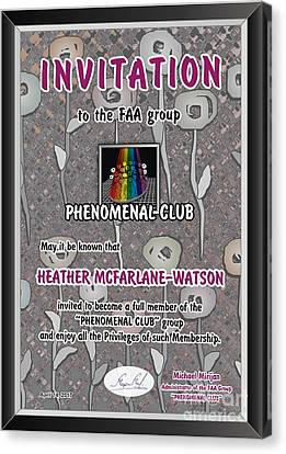Michael Canvas Print - Invitation by Heather McFarlane-Watson