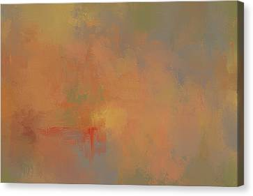 Invitation To Autumn Abstract Painting Canvas Print by Jai Johnson