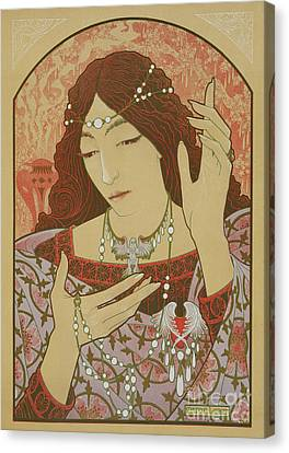 Jewels Canvas Print - Invocation To The Madonna Of Green Onyx by Jules Marcel-Lenoir