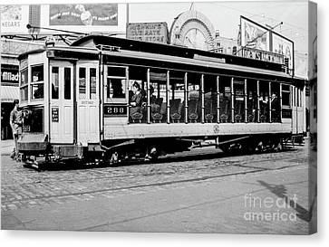 Canvas Print featuring the photograph Inwood Crosstown Trolley  by Cole Thompson