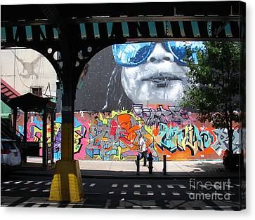 Canvas Print featuring the photograph Inwood Street Art  by Cole Thompson