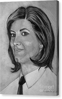Ioanna Canvas Print by Kostas Koutsoukanidis