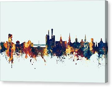 Iowa City Iowa Skyline Canvas Print
