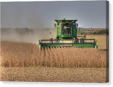 Iowa Soybean Harvest Canvas Print