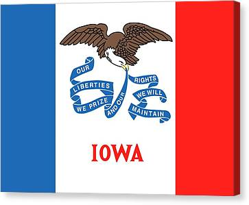 Iowa State Flag Canvas Print by American School