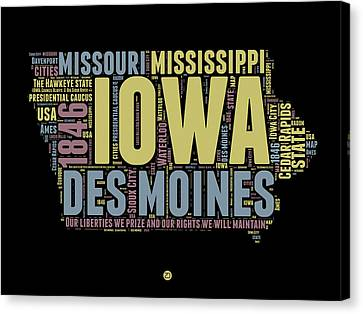 Iowa Word Cloud 1 Canvas Print