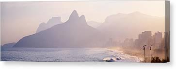 Ipanema Beach Rio De Janeiro Brazil Canvas Print by Panoramic Images