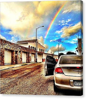 #iphone # Rainbow Canvas Print by Estefania Leon
