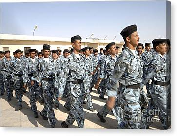 Law Enforcement Canvas Print - Iraqi Police Cadets Being Trained by Andrew Chittock