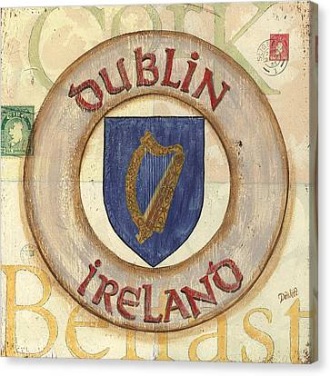 Ireland Coat Of Arms Canvas Print by Debbie DeWitt