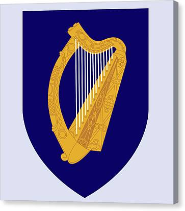 Canvas Print featuring the drawing Ireland Coat Of Arms by Movie Poster Prints