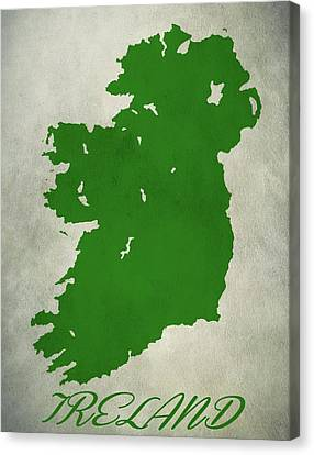 Ireland Grunge Map Canvas Print by Dan Sproul