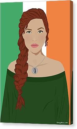 Canvas Print featuring the digital art Ireland by Nancy Levan