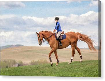 Irene And Boomer Canvas Print by Debby Herold