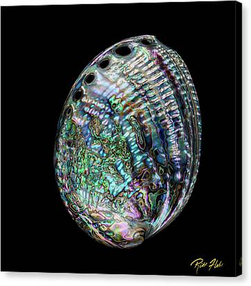 Canvas Print featuring the photograph Iridescence On The Half-shell by Rikk Flohr