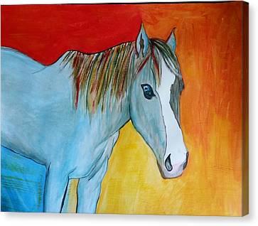 Iridescent Blue Canvas Print