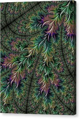 Iridescent Feathers Canvas Print