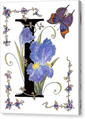 Iris And Indian Leaf Butterfly - Stolen Canvas Print by Stanza Widen