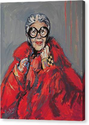 Iris Apfel Style Icon Canvas Print by Nop Briex