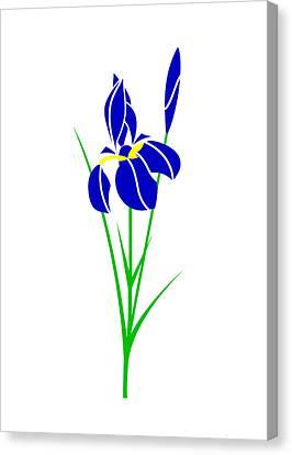Iris Canvas Print by Asbjorn Lonvig