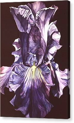 Canvas Print featuring the painting Iris At Night by Alfred Ng