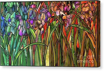Glass Wall Canvas Print - Iris Coloring Book by Mindy Sommers