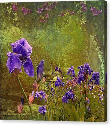 Iris Garden Canvas Print by Jeff Burgess