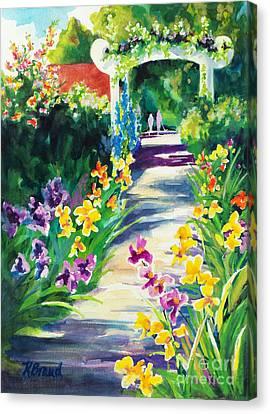 Iris Garden Walkway   Canvas Print