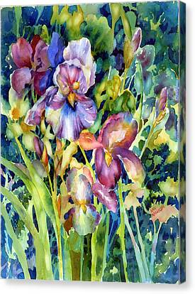Iris II Canvas Print by Ann  Nicholson