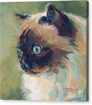 Iris II Canvas Print by Kimberly Santini