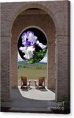 Iris In Portico Canvas Print by Robert Sander