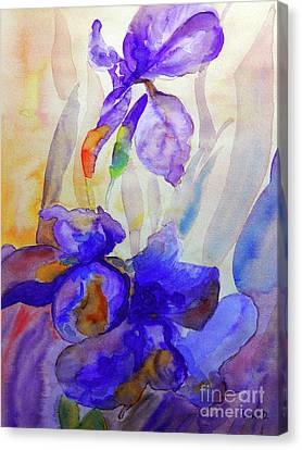 Canvas Print featuring the painting Iris by Jasna Dragun