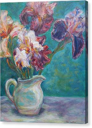 Iris Medley - Original Impressionist Painting Canvas Print by Quin Sweetman