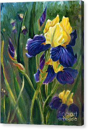 Canvas Print featuring the painting Iris by Renate Nadi Wesley