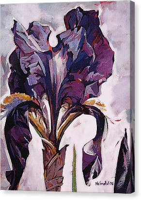 Canvas Print featuring the painting Iris Spring by Tim  Heimdal