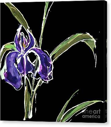 Iris-violet Canvas Print