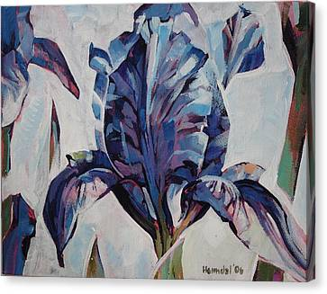 Canvas Print featuring the painting Iris Winter by Tim  Heimdal