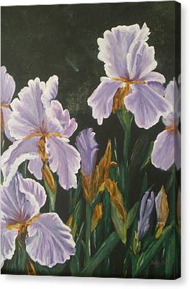 Canvas Print featuring the painting Irises by Betty-Anne McDonald